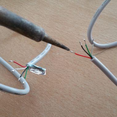 Lötarbeiten --> USB-A auf USB-A